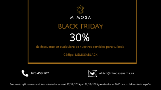 Promoción Wedding planner Black Friday 2019